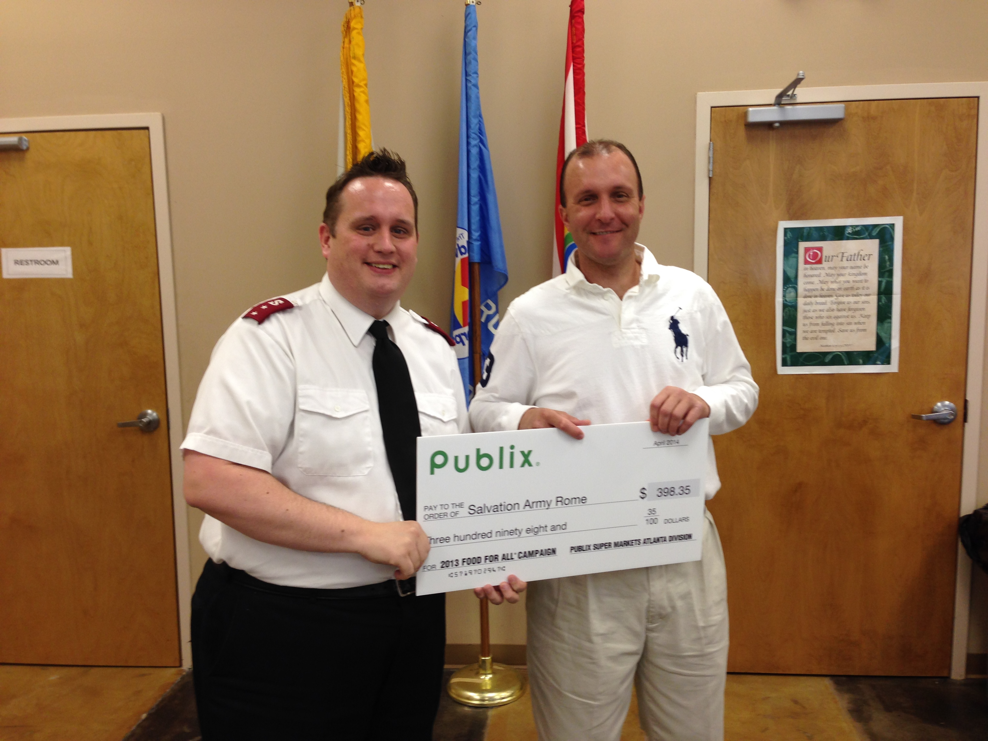 Good shepherd funeral home rome ga - Donation From The 2014 Food For All Campaign From Publix Pictured Captain Mcclure